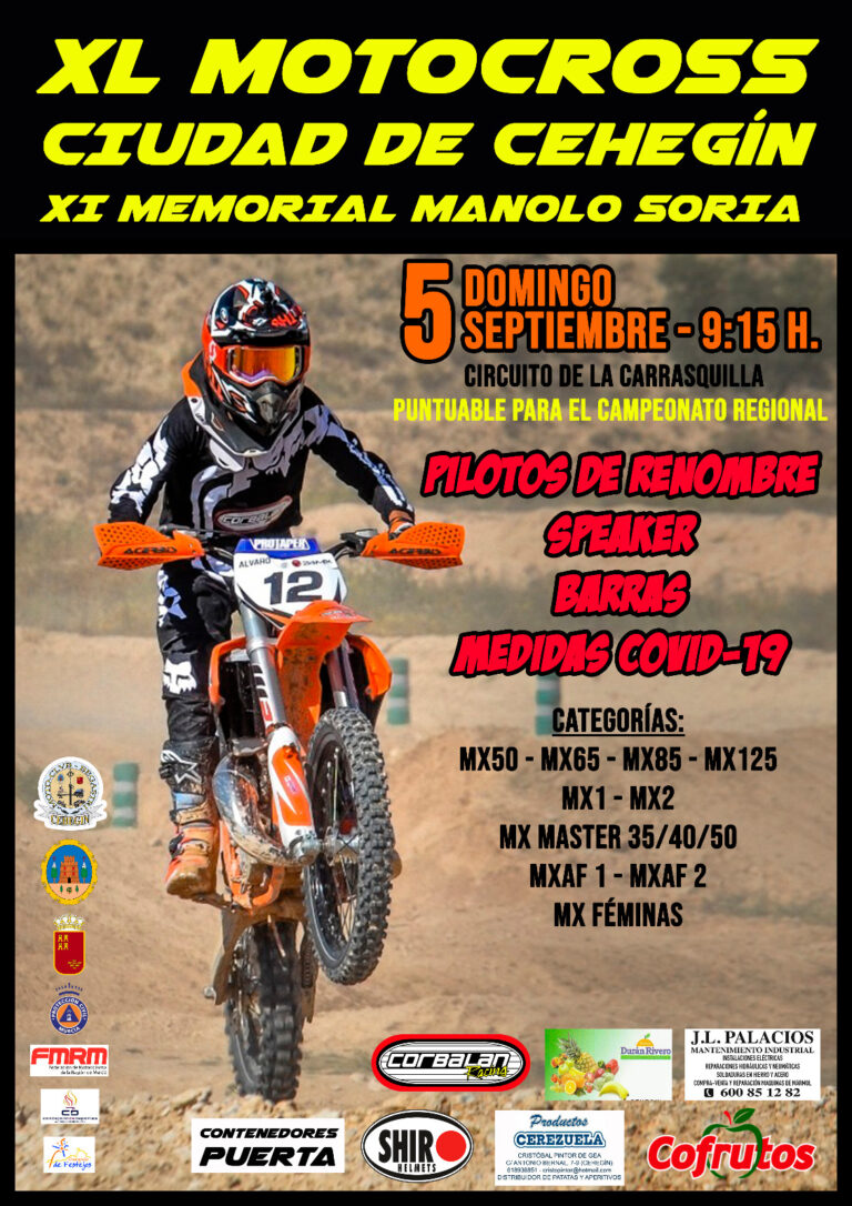 Abierto el plazo de inscripción de la próxima carrera de Motocross en Cehegin